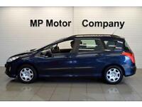 2010/10-PEUGEOT 308 SW 1.6 VTI ( 120BHP ) AUTO S 5DR ESTATE, BLUE, 70-000M SH,