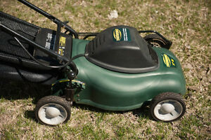 electric lawnmower like new