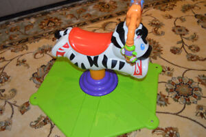 Fisher Price Bounce Spin Rodeo Zebra