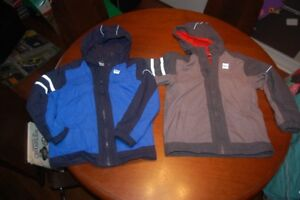3 MEC Jackets: Blue, Turquoise and Grey