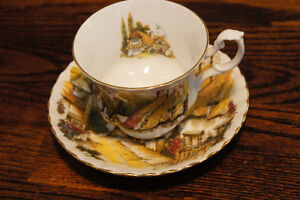 Royal Albert Thatched Cottage Scene Teacup and Saucer