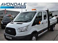 2016 FORD TRANSIT 350 L4 DOUBLE CAB FLAT BED DROPSIDE DIESEL
