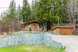 7553 Squilax Anglemont Road- Semi Waterfront Log Home