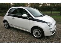 2012 FIAT 500 1.2 LOUNGE 3 DR HATCHBACK MANUAL PETROL WARRANTIED LOW MILEAGE FSH