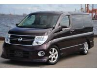 2007 (57) NISSAN ELGRAND HWS RED LEATHER PREMIUM EDN