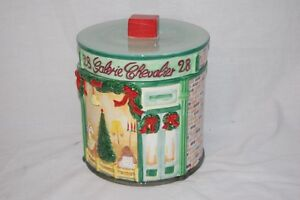 Christmas round cookie jar