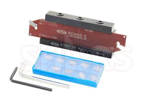 """Shars 14 PC Set 1"""" Shank Self-Lock Cut-Off Tool +10pc Inserts $102.30 OFF P]"""