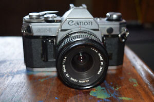 Canon AE-1 with 28 mm lens + 50 mm lens- Lovely shape