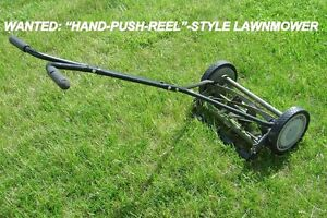"WANTED:  ""HAND-PUSH-REEL-STYLE"" LAWNMOWER IN GOOD CONDITION"