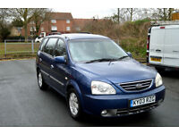 2003 KIA CARENS 2.0 CRDi SE TURBO DIESEL AUTOMATIC 5 DOOR MPV PX SWAP
