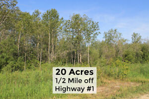 20 Treed Acres, 1/2 Mile off HWY #1