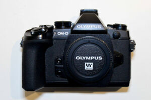 OLYMPUS OM-D E-M1 16.3MP Digital Camera & Box. Low shutter count