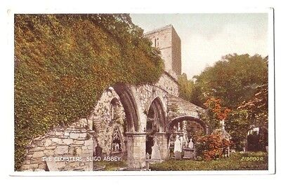 Sligo ABBEY CLOISTERS IRELAND EIRE OLD POSTCARD 1952