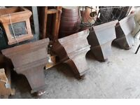 Large Cast Iron Drain Hoppers Ideal As Garden Wall Planters