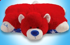 large patriot bear plush stuffed animal kids bed pillow pet new 18 ebay. Black Bedroom Furniture Sets. Home Design Ideas