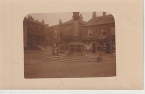 RP BAILDON Shipley - Market Place, Stocks & Cross, shops, people, amateur photo