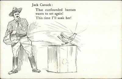 Canada Political Propaganda Jack Canuck Throws Water Foster Party SCARCE jrf
