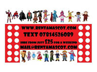 IGGLE PIGGLE CHASE MARSHALL PEPPA GEORGE PIG LEGO OLAF ELSA MINION MASCOT FANCY DRESS COSTUME HIRE