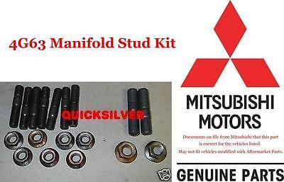 95 99 Eclipse Talon 4g63 Turbo Manifold Stud & Nut Kit NEW OEM 92 Mitsubishi Eclipse Exhaust Manifold