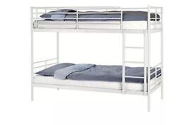 Ikea white metal bunk bed