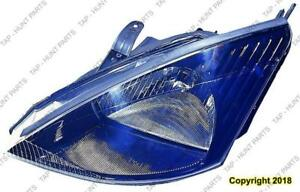 Head Lamp Driver Side With Svt Black Bezel High Quality Ford Focus 2002-2004