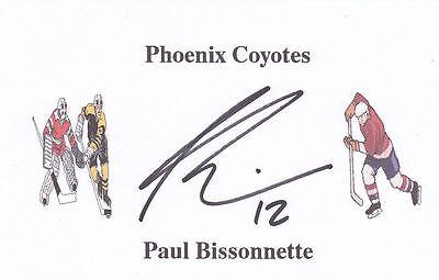 Paul Bissonnette (Ex-Phoenix Coyotes) signed card