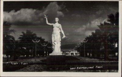 Izmir Turkey Statue Real Photo Postcard