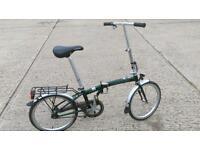 Batavas fold up folding bike.