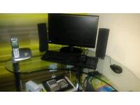 Table and monitor for sale