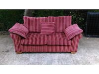 Fabulous Funky red stripe 2 seat sofa from Next - can deliver