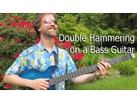 Double Hammering on a Bass Guitar