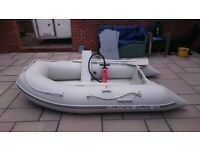 INFLATABLE DINGHY BOAT WITH OUTBOARD MOTOR
