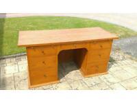 Oak desk computer table
