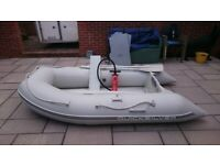 INFLATABLE DINGHY WITH OUTBOARD MOTOR , DINGHY TENDER RIB BOAT