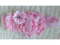 Beautiful silk rose Childrens Head Bands