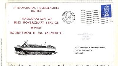 BC260 1971 GB IOW *Freshwater Isle of Wight* Hovercraft Machin Cover Bournemouth