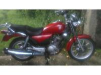 Yamaha 125cc motorbike for sale custom cruiser YBR