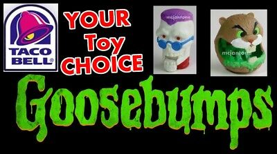 LOOSE Taco Bell 1996 GOOSEBUMPS Teen Horror Author R.L. Stine YOUR Toy (Taco Bell Toy)