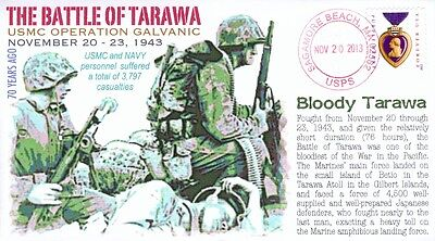 COVERSCAPE computer designed 70th anniversary of Battle of Tarawa event cover