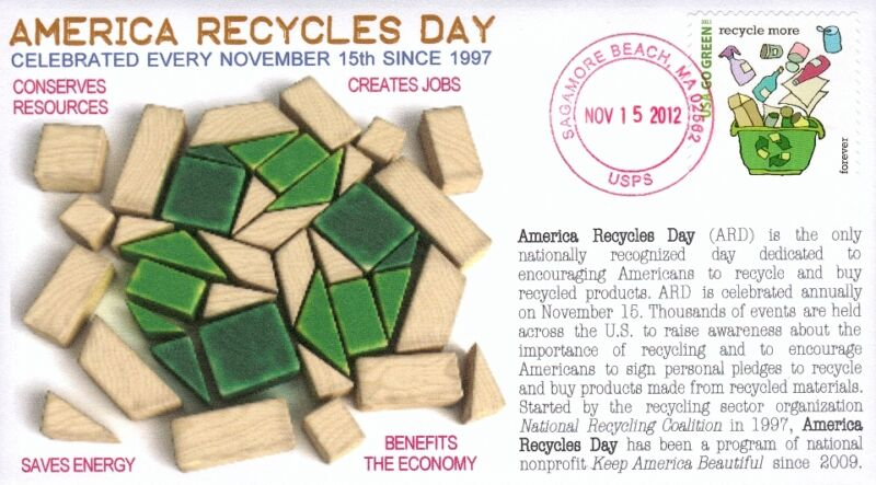 "COVERSCAPE computer designed ""America Recycles Day"" event cover"