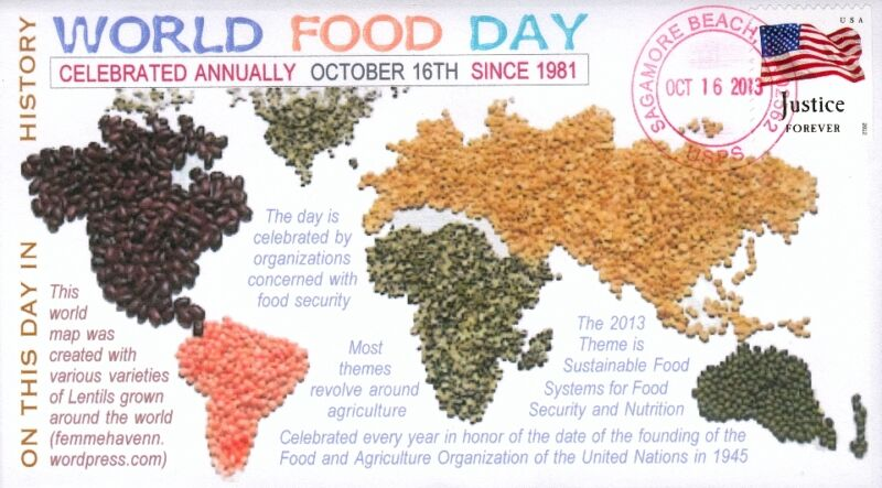"COVERSCAPE computer designed ""World Food Day"" 2013 event cover"
