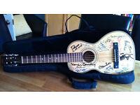 Vintage Viator by Paul Brett - Parlour / Travel Guitar - Signed by Martin Carthy, Gordon Giltrap etc