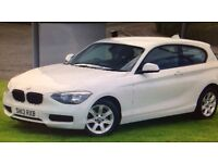 White BMW 1 Series 2013 Plate