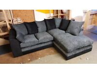 BRAND NEW DYLAN CORNER SOFA OR 3+2+ARMCHAIR IN CHENILLE FABRIC