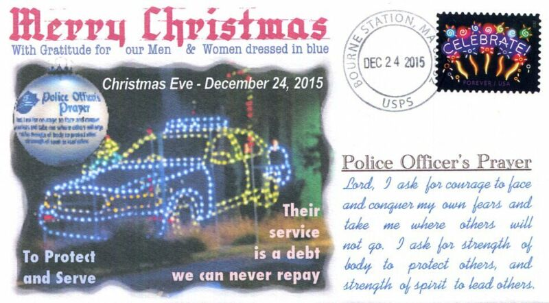 COVERSCAPE computer designed Christmas Eve 2015, Police Officer's Prayer cover