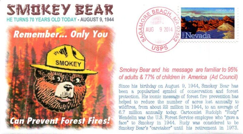 "COVERSCAPE computer designed 70h anniversary of ""Smokey Bear"" event cover"