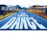 Runrig Saturday 18th August, Stirling - 2 Seated tickets