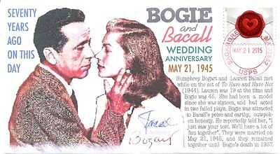 COVERSCAPE computer designed 70th anniversary wedding of Bogie and Bacall cover