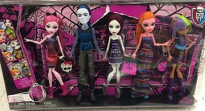 Monster High Maul Monsteristas Deluxe Doll 5 Pack Lot NEW IN SEALED PACKAGING!!!
