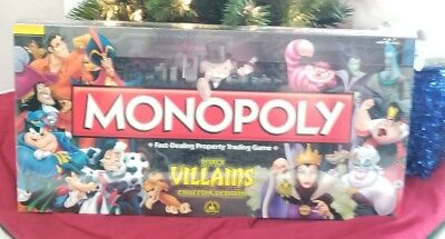 New Sealed Disney Parks Villains Monopoly Collector's Edition Hard to Find